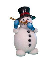 Снеговик флейтой